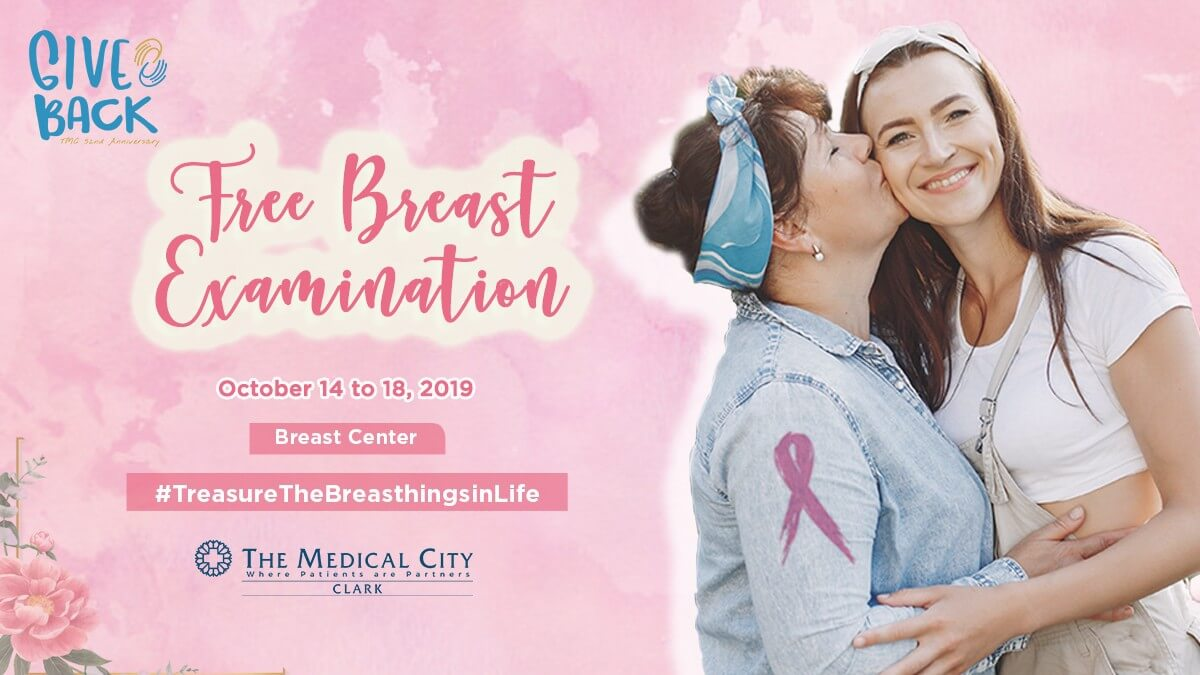 the medical city clark free breast examination