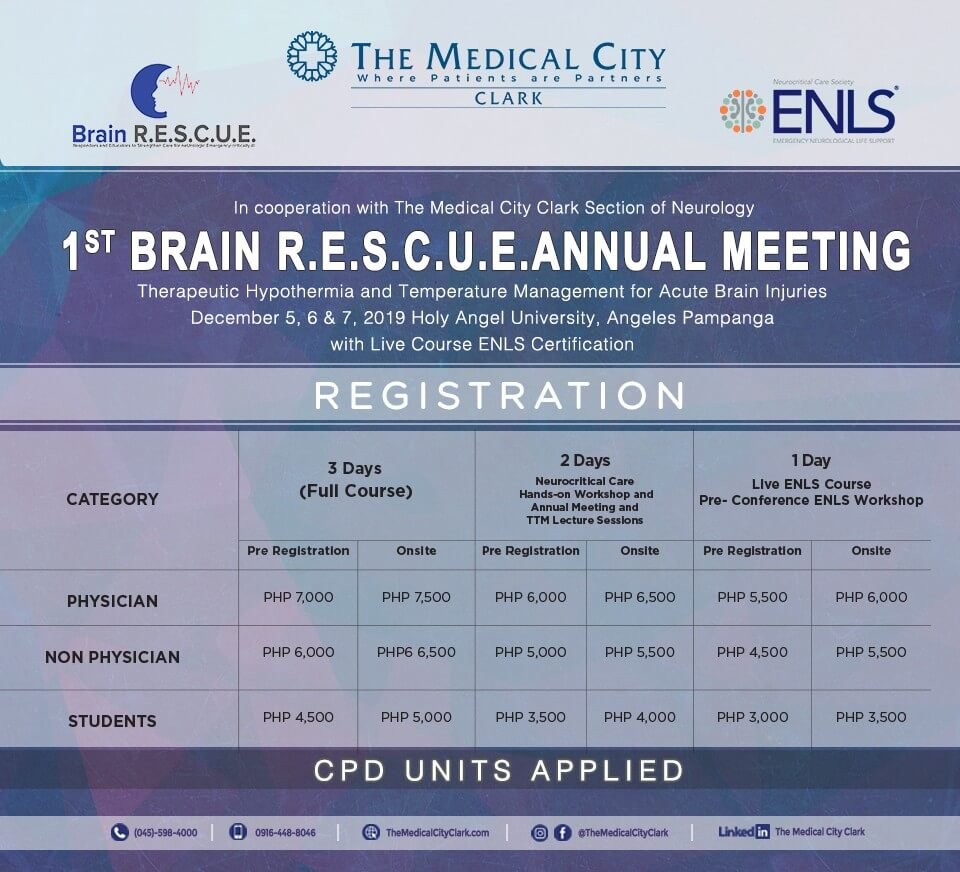the medical city clark brain rescue annual meeting